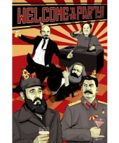 Politiek themafeest communisme poster