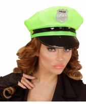Politiepet neon groen