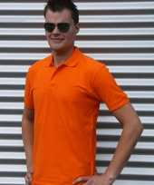 Poloshirts oranje basic
