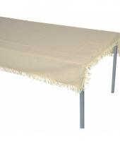 Polyester buiten tafelkleed beige 220 x 140 cm