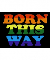 Polyester lgbt born this way vlag