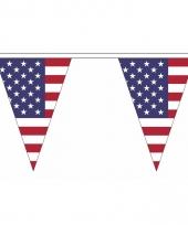 Polyester slinger met amerika vlaggetjes