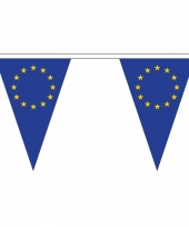 Polyester slinger met europa vlaggetjes