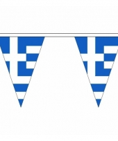 Polyester slinger met griekenland vlaggetjes