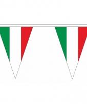 Polyester slinger met italie vlaggetjes 10086620