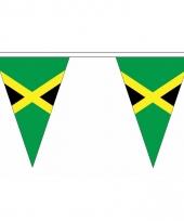 Polyester slinger met jamaica vlaggetjes
