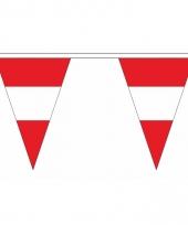 Polyester slinger met oostenrijk vlaggetjes