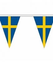 Polyester slinger met zweden vlaggetjes 10086622