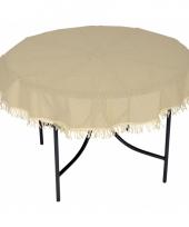 Polyester tafelkleed rond beige 160 cm