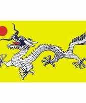 Polyester vlag met draak 90 x 150 cm 10099559