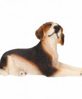 Polystone beeld beagle hond 13 cm