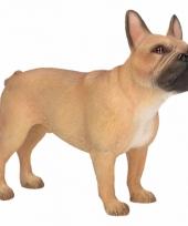 Polystone beeld bruine franse bulldog hond 11 cm