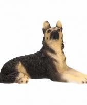 Polystone beeld duitse herdershond 14 cm