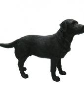 Polystone beeld labrador zwart 14 cm