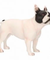 Polystone beeld witte franse bulldog 11 cm
