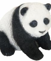 Polystone beeldje pandabeer 14 cm