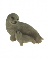Polystone beeldje zeehond 11 cm 10068998