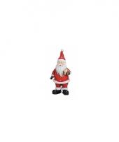 Polystone beeldjes kerstman met ster 9 cm