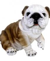 Polystone tuinbeeld bulldog 25 cm