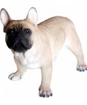Polystone tuinbeeld franse bulldog hond 35 cm