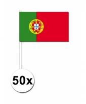 Portugal zwaai vlaggetjes 50 stuks