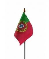 Portugese landenvlag op stokje