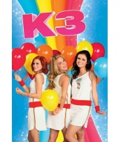 Poster k3 met ballonnen