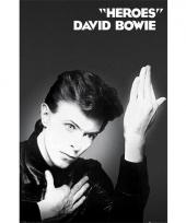 Poster met david bowie heroes
