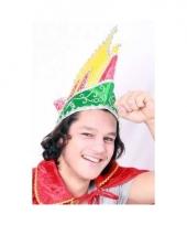 Prinsen muts carnaval mutsen rood geel groen