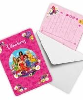 Prinsessia uitnodigingen 6 stuks