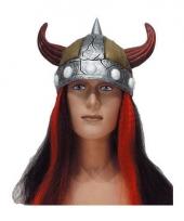 Pruik viking met haar
