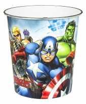Prullenbakken van avengers met hulk en captian america en hawkeye