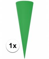 Puntvormige knutsel schoolzakje groen