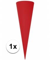 Puntvormige knutsel schoolzakje rood