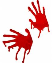Raamversiering bloederige handen