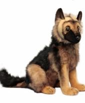 Realistische duitse herder pup knuffel 41 cm