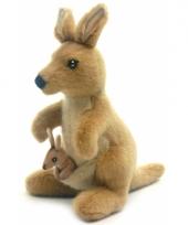 Realistische knuffel kangoeroe 20 cm