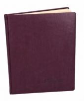 Receptie boek donkerpaars 27 cm