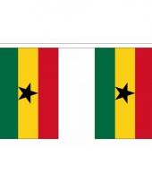 Rechthoekige ghana vlaggenlijn
