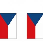 Rechthoekige vlaggenlijn tsjechie