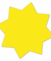 Reclame sterren neongeel 18 cm 20 x