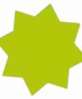 Reclame sterren neongroen 18 cm 20 x