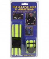 Reflecterende riem en armband set