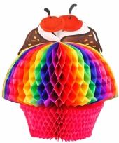 Regenboog cupcake 20 cm