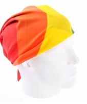 Regenboog hoofddoek 54 x 54 cm 10072409