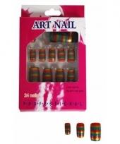 Regenboog kunstnagels 24 stuks