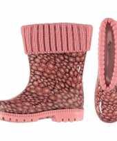 Regenlaarsjes voor kinderen roze met voering