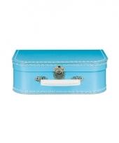 Retro koffertje blauw 25 cm