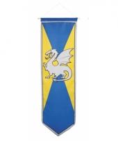 Ridder banier blauw met geel