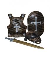 Ridder verkleed accessoires set brons 4 delig